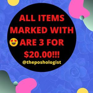 ALL ITEMS MARKED 😍 ARE 3 FOR $20.00!!!